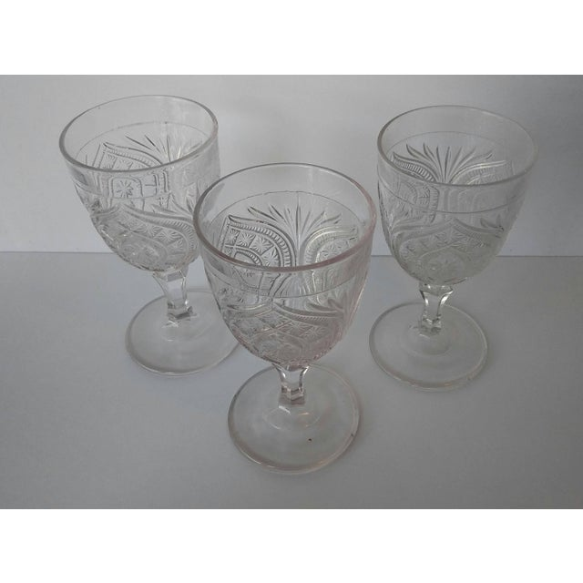 Antique Eapg Civil War Era Water Goblet - Set of 3 For Sale - Image 4 of 4