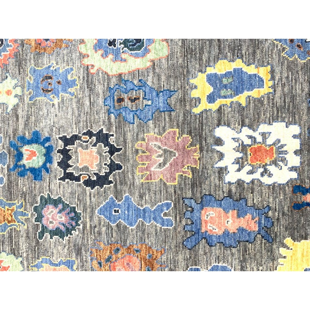 Contemporary Modern Turkish Oushak Rug - 8′8″ × 12′ For Sale - Image 3 of 7