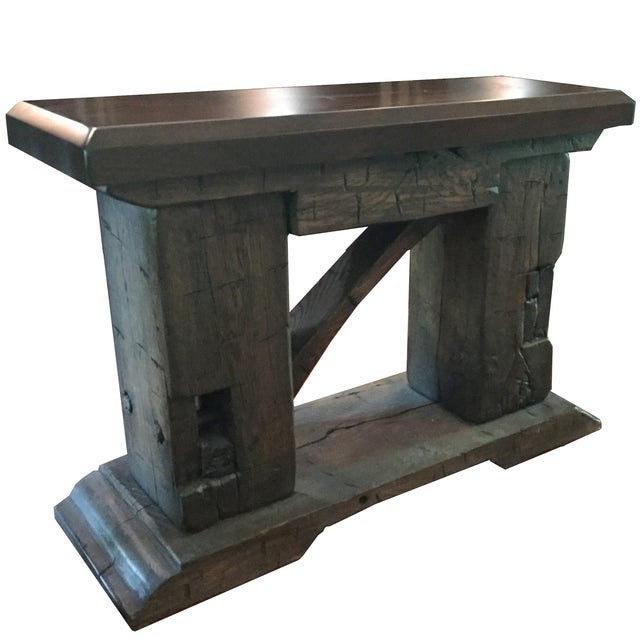 Rustic Custom Made Salvaged Barn Wood Bench - Image 6 of 8