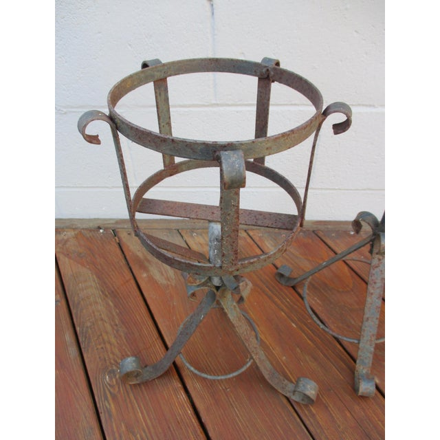 French Mediterranean Iron Planters - A Pair - Image 7 of 9