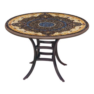 """Almirante 60"""" Bistro Table with Black Base For Sale"""