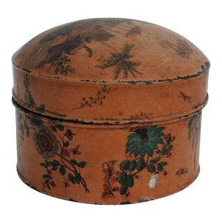 Antique Chinoiserie Tole Tea Canister For Sale