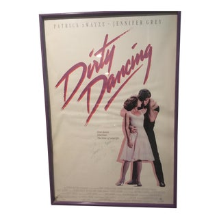 """Autographed Patrick Swayze """"Dirty Dancing"""" Poster"""
