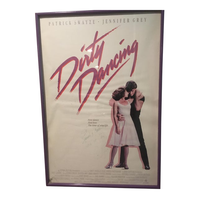 "Autographed Patrick Swayze ""Dirty Dancing"" Poster For Sale"
