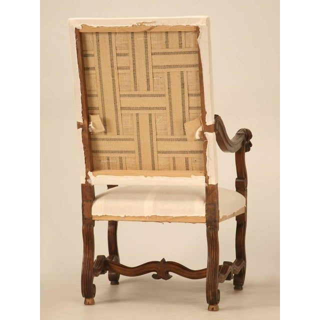 Circa 1880 French Walnut Os De Mouton Throne Chair For Sale - Image 9 of 11