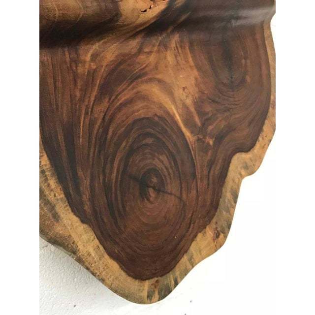 Wood Free-Form Tropical Hardwood Wall Sculpture For Sale - Image 7 of 9