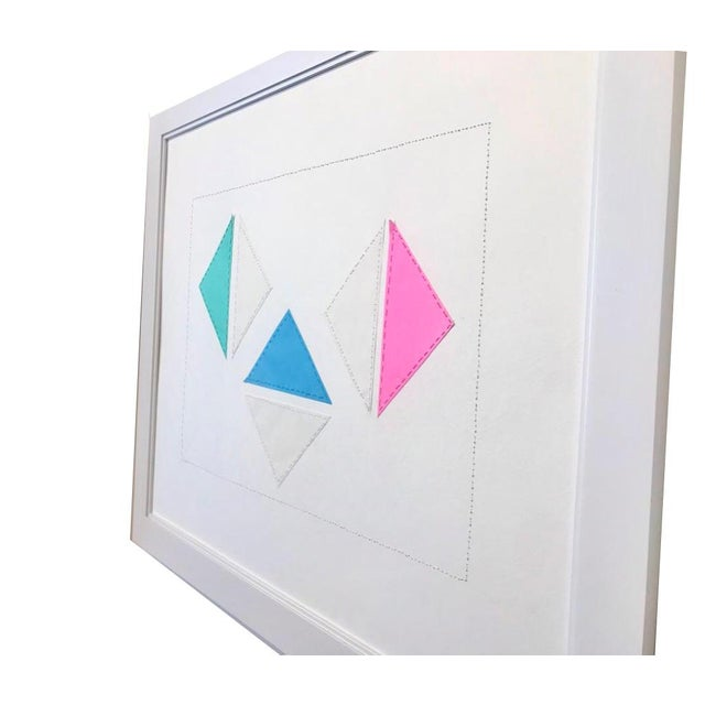 Created in 2018 by contemporary British artist Natasha Mistry; this minimalist collage has a fun, playful vibe, and child-...