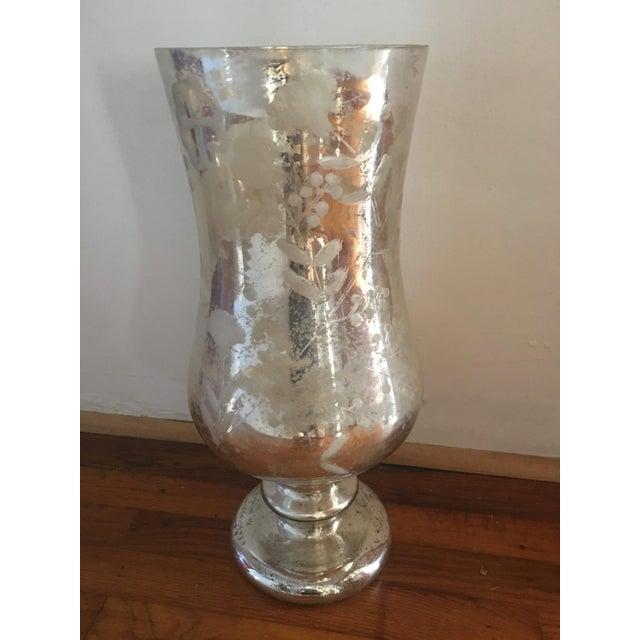 Very Large Silver Mercury Glass Vase Candleholder Chairish