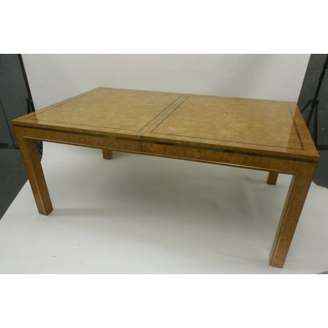 This Bernhard Rohne designed table for Mastercraft is done in a stunning Amboyna Burl Wood with Brass. The timeless...