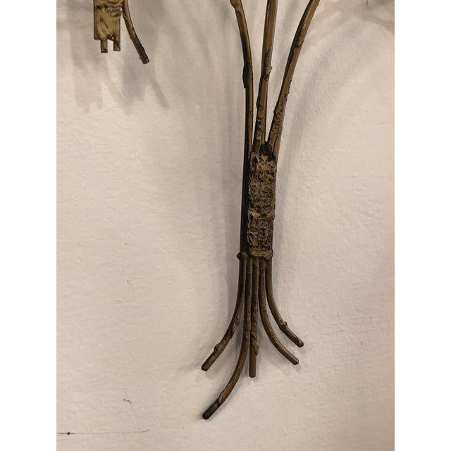 Metal Vintage Metal Tree Wall Art Sculpture For Sale - Image 7 of 11