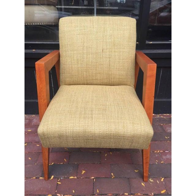 T.H. Robsjohn-Gibbings Attributed Armchair For Sale - Image 4 of 4
