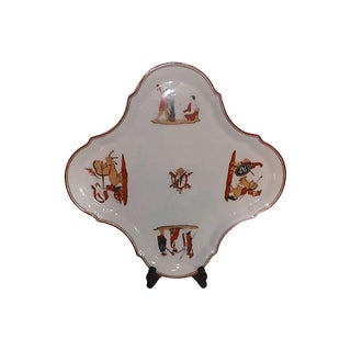 French Porcelain Tray For Sale