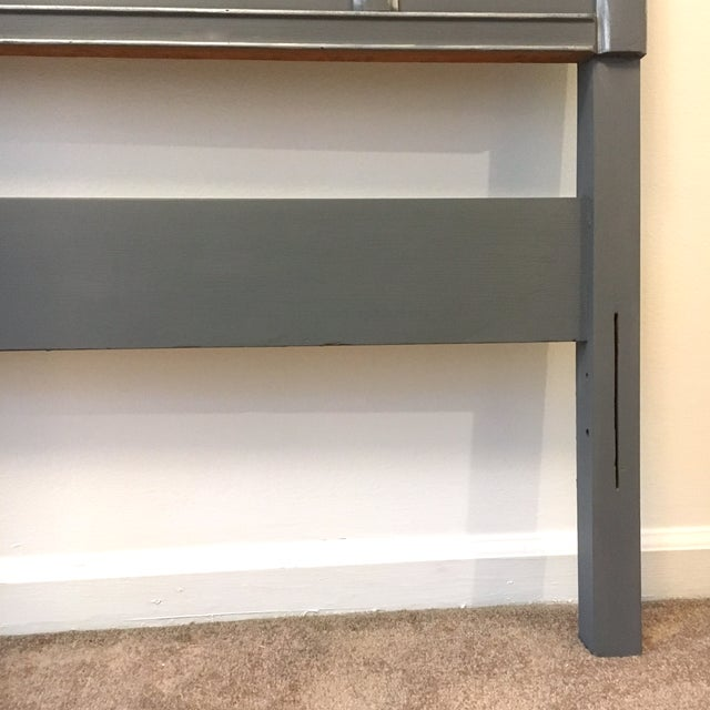 1960s 1960s Contemporary Gray Hand Painted Full Size Headboard For Sale - Image 5 of 7