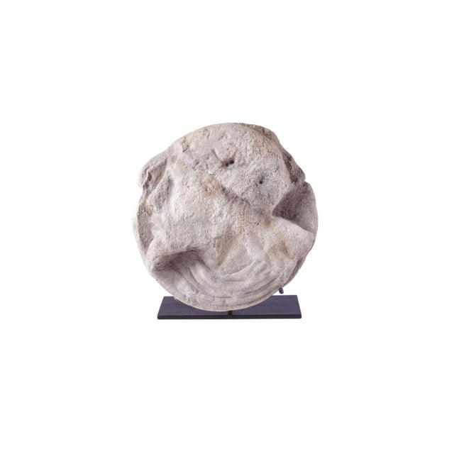 Metal Michael Taylor Designs Stone Sculpture with Stand For Sale - Image 7 of 7