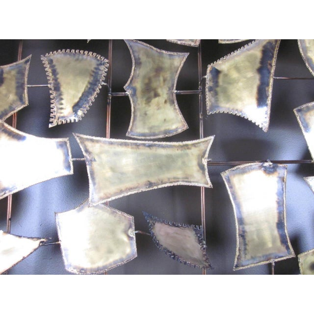 Curtis Jere Attributed Monumental Brass Wall Sculpture For Sale In Cincinnati - Image 6 of 7
