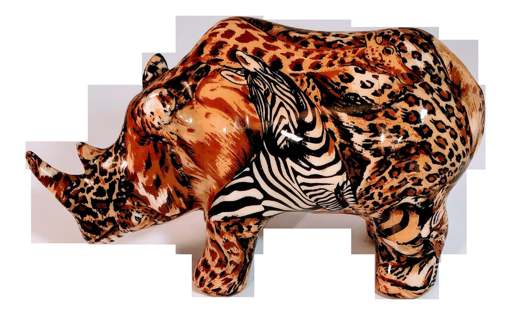 Vintage African Rhino La Vie Safari