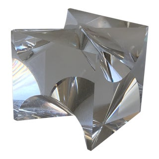 1960s Mid-Century Modern Alessio Tasca Lucite Cube Sculpture