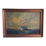Image of Nautical Original Oil Painting For Sale