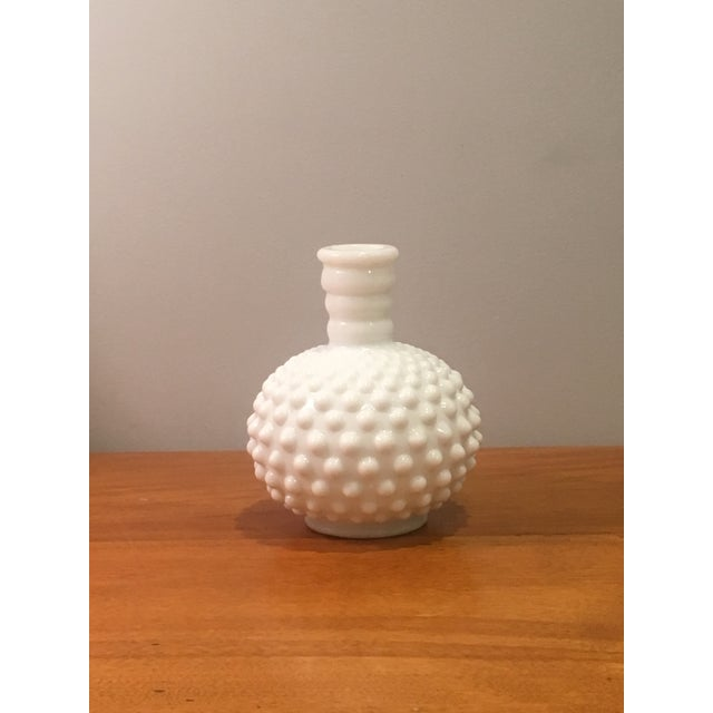 Mid Century Vintage Hobnail Milk Glass Vase Chairish