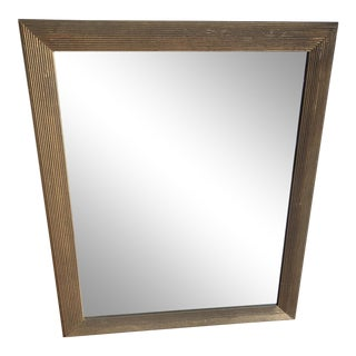 Rectangular Reticulated Wooden Mirrror