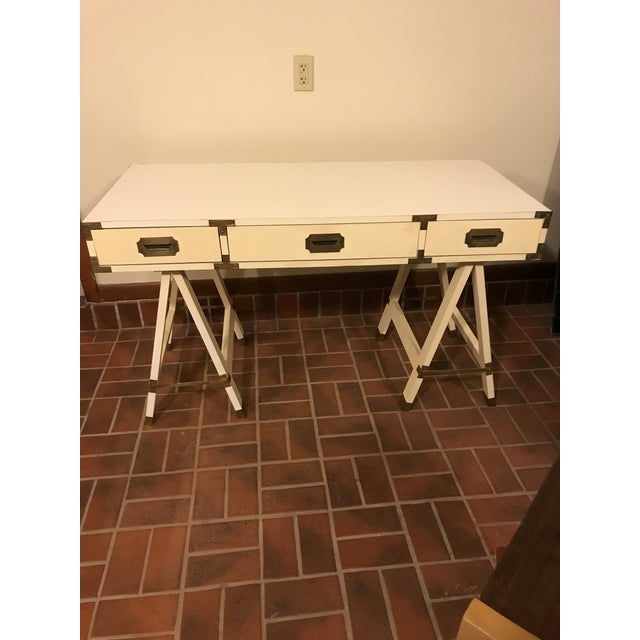 1970s 1970s Bernhardt Campaign Writing Desk For Sale - Image 5 of 5