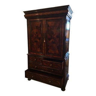 Hickory White Burl & Walnut Armoire For Sale