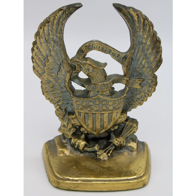 Vintage Federal Eagle Bookends - a Pair For Sale - Image 4 of 8