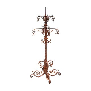 19th Century Wrought Iron Candelabra