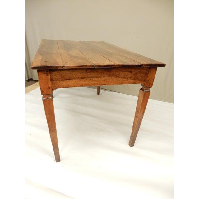 Directoire' Provincial Walnut Farm Table/Desk For Sale - Image 4 of 8