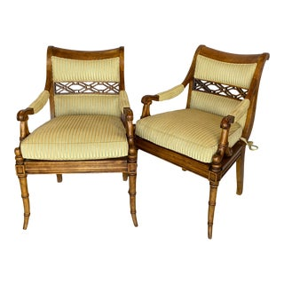 Century Eclectic Accent Chairs - a Pair For Sale