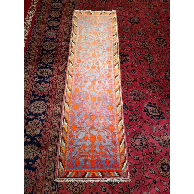 19th Century Art Nouveau Khotan Rug Runner - 2′2″ × 8′1″ For Sale - Image 10 of 12
