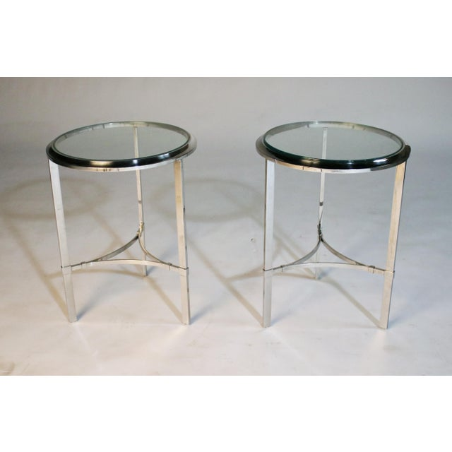 Maison Jansen Style Steel Side Tables For Sale - Image 12 of 12