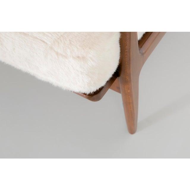 Ib Kofod-Larsen for Selig Teak Wood Sofa For Sale - Image 10 of 13