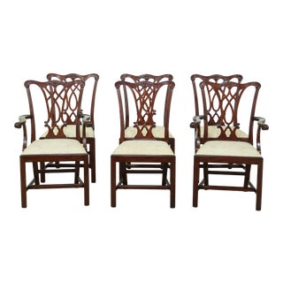 Set of 6 Henkel Harris Model 107 Mahogany Dining Room Chairs For Sale