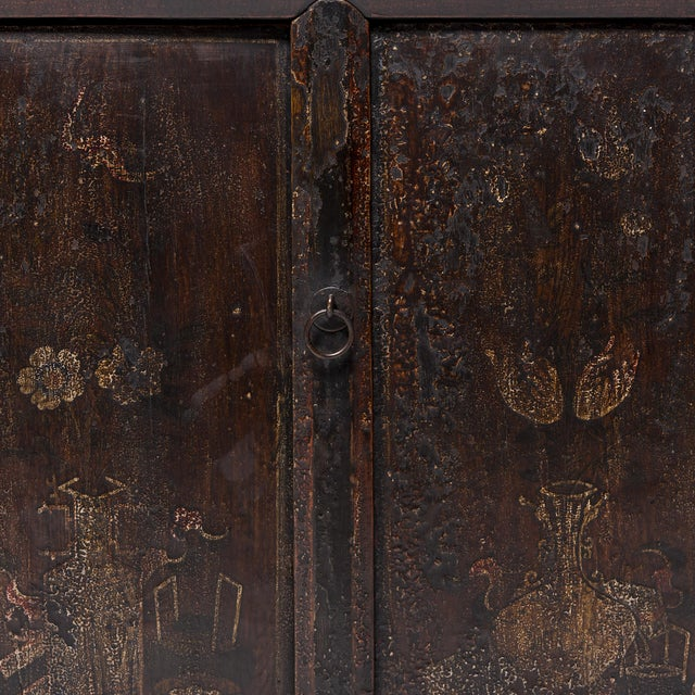 Chinese Four Seasons Painted Coffer For Sale - Image 10 of 13