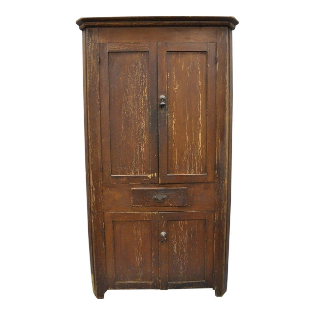 Early 20th Century Antique Primitive Cupboard/Cabinet - Early 20th Century Antique Primitive Cupboard/Cabinet Chairish