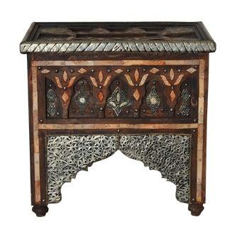 Bone & Metal Moroccan Side Table
