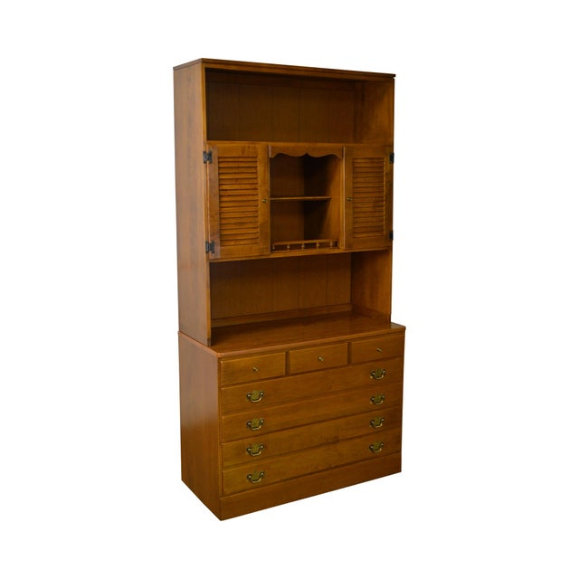 Ethan Allen Custom Room Plan Maple Hutch Top Chest of Drawers For Sale - Image 11 of 11