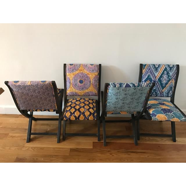 Anthropologie Terai Folding Chairs - Set of 4 - Image 3 of 5