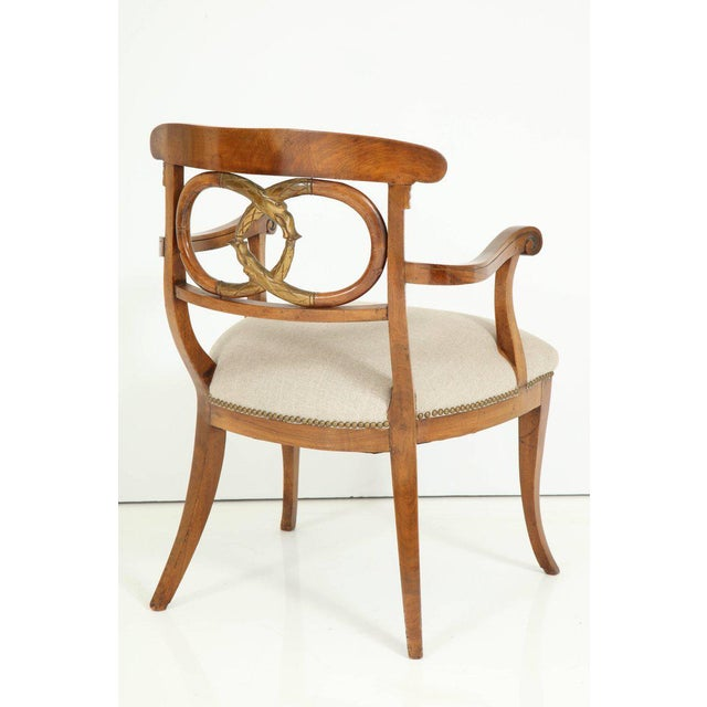 Late 19th Century Pair of Biedermeyer Armchairs For Sale - Image 5 of 10