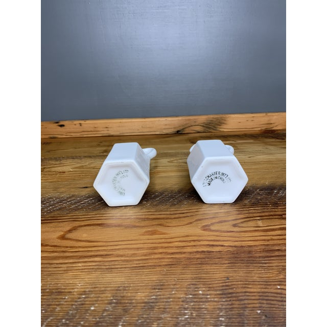 Asian Vintage White Condiment Jars - a Pair For Sale - Image 3 of 11