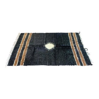 1950s Vintage Handmade Wool Kilim Rug - 4′2″ × 6′1″ For Sale