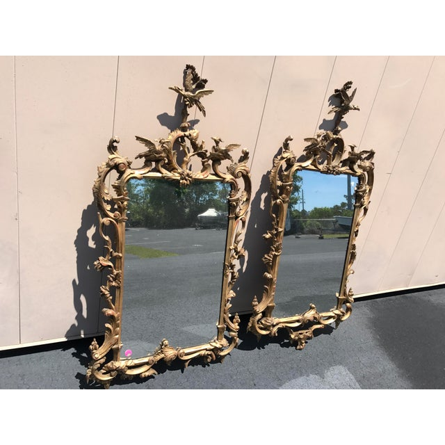19th Century Antique English Gilt Wood Rococo Chippendale Mirrors - a Pair For Sale - Image 12 of 12