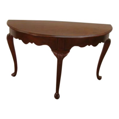 Outstanding 1990S Queen Anne Kincaid Cherry Demilune Console Table Beatyapartments Chair Design Images Beatyapartmentscom
