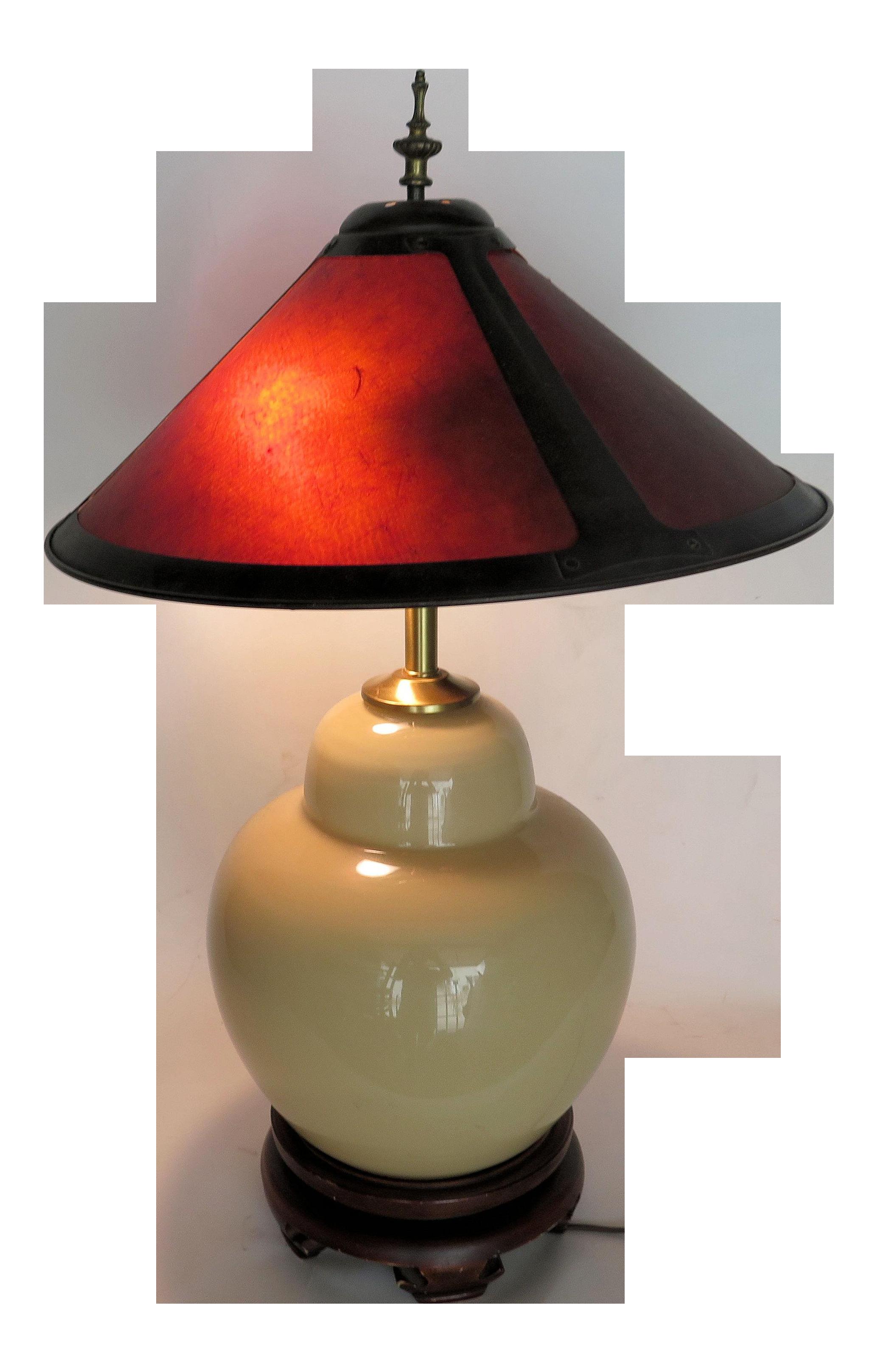 Asian porcelain table lamps