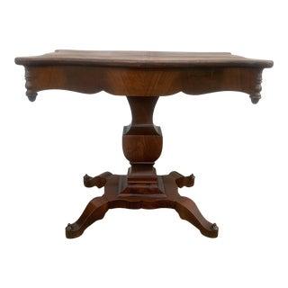 19th Century Empire Mahogany Console Table For Sale