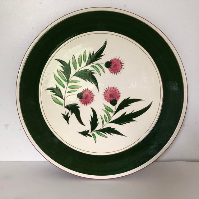 "Midcentury Stangl Pottery Thistle 14.5""d Serving Platter For Sale In New York - Image 6 of 6"