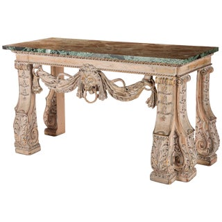 English William Kent Style Carved Wood Console Table, 19th Century For Sale