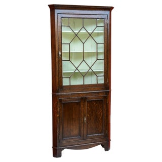 Oak Corner Cabinet For Sale