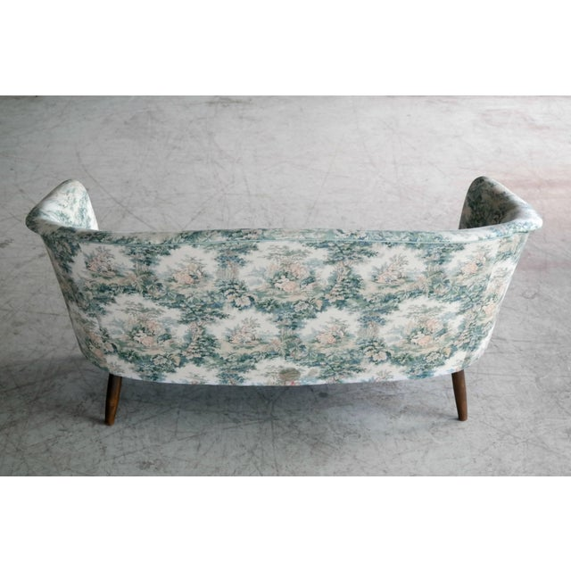 Loveseat or Small Sofa by Carl Malmsten for o.h.. Sjogren Scandinavian Midcentury For Sale In New York - Image 6 of 8